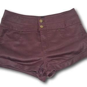 Forever 21 Wine High Waist Shorts  Size: 30 💗